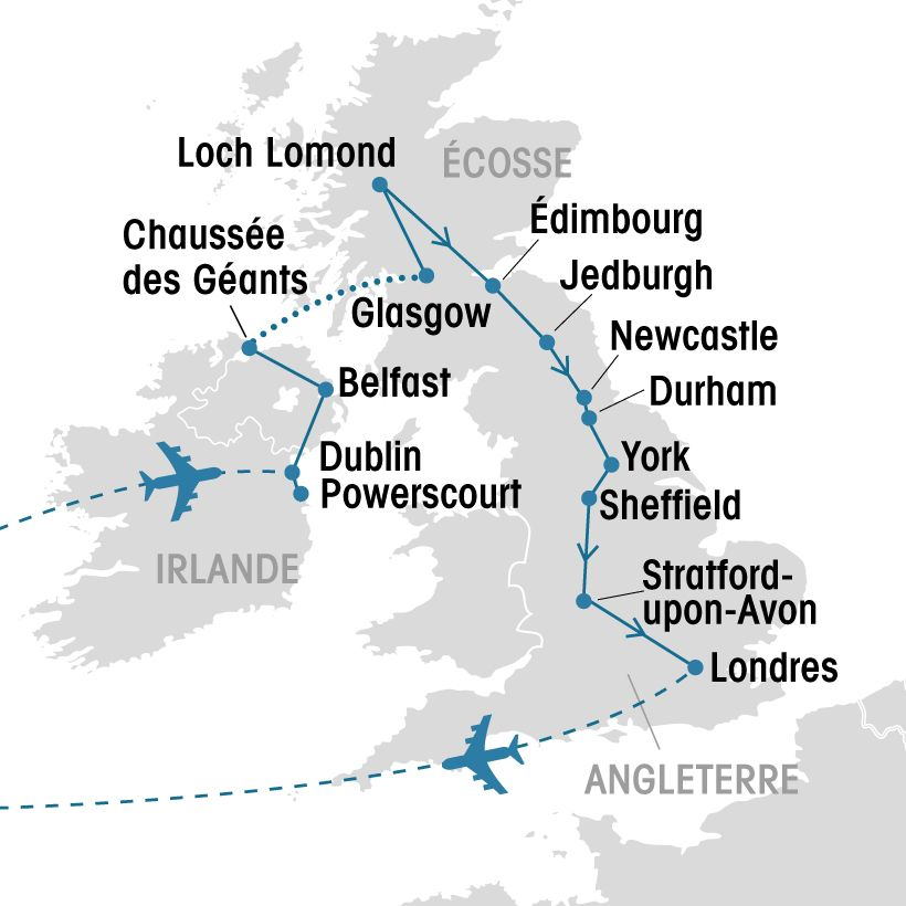 Carte Angleterre Irlande Ecosse.Irlande Ecosse Angleterre Groupe Voyages Quebec Leader De L