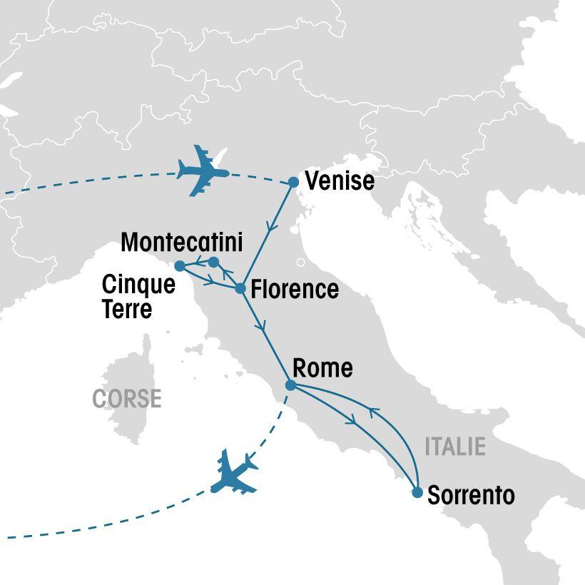 Carte Italie Venise Rome.Tresors D Italie Groupe Voyages Quebec Leader De L