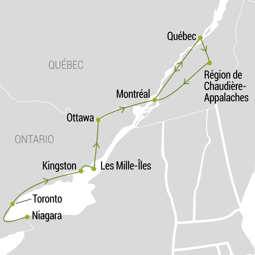L'Essentiel de l'Est et expérience boréale 2020 map