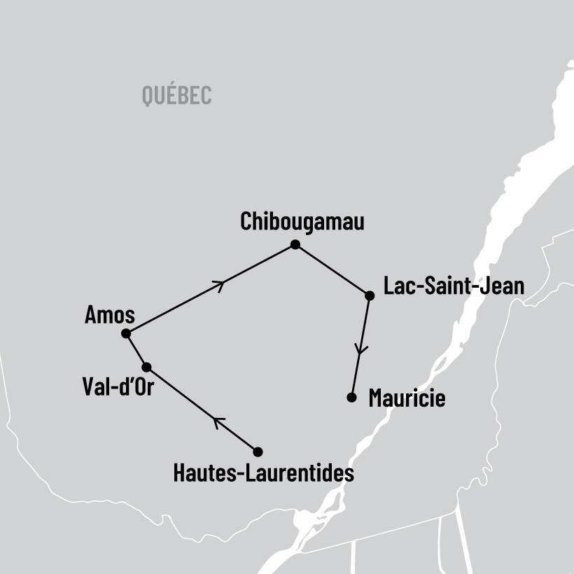 Abitibi-Baie-James et Lac-Saint-Jean map