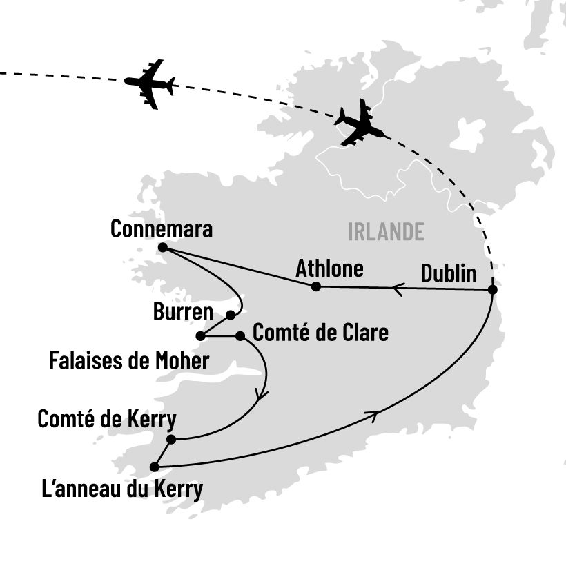 Irlande authentique map