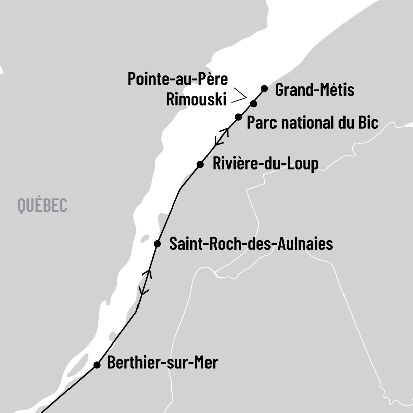 Les beautés du Saint-Laurent map