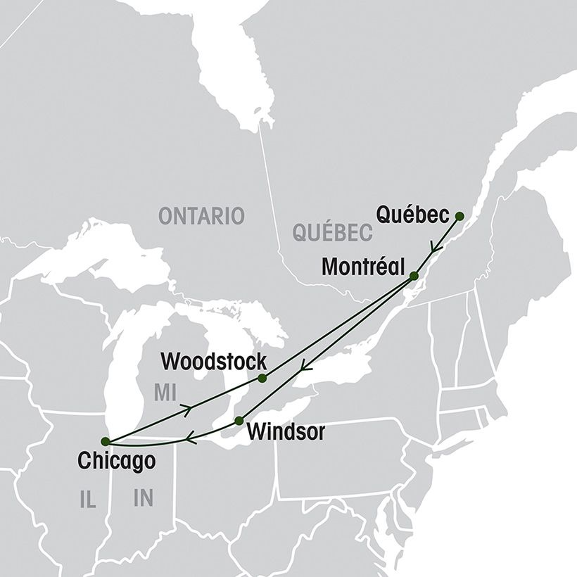 Chicago Express map