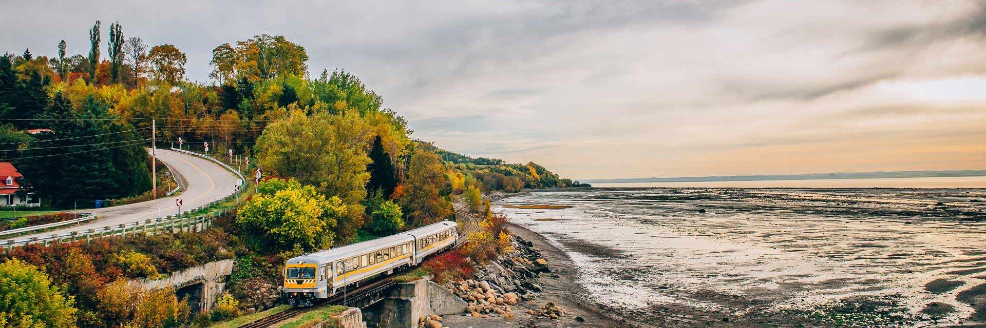 Train animé de Charlevoix et l'Isle-aux-Coudres