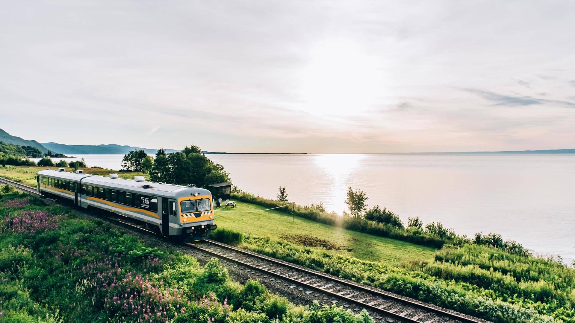 Escapade de luxe au Germain Charlevoix: Le Train de Charlevoix de Québec à Baie-Saint-Paul