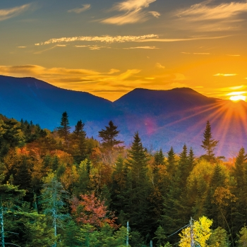 Train du New Hampshire dans les montagnes Blanches